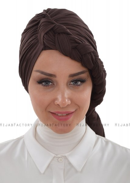 Theresa - Braun Cotton Turban - Ayse Turban